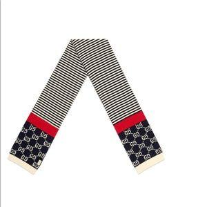 Authentic Gucci Stripe Cotton Scarf